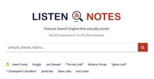 Listen Notes - A Podcast Search Engine