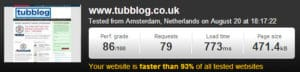 Pingdom Web Page Speed Test